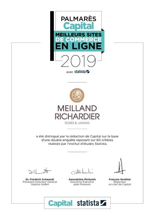Certificat personnalisé Meilland Richardier
