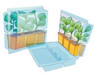 conserver plantes en motte, pot, godet, conteneur