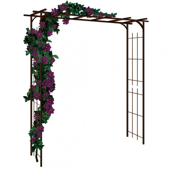 pergola grand mod le d 39 antan tuteurs pour rosiers et. Black Bedroom Furniture Sets. Home Design Ideas