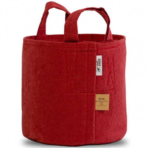 Pot en toile recyclée ROOT POUTCH Boxer Line Rouge