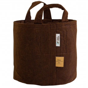 Pot en toile recyclée ROOT POUTCH Boxer Line Marron